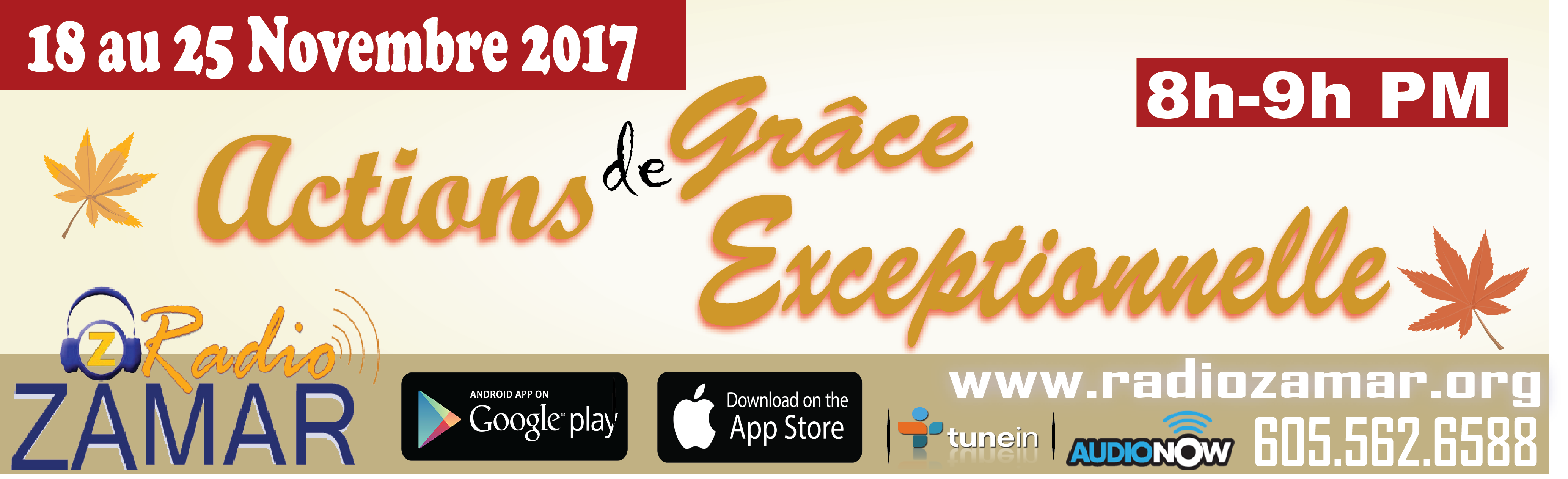 Actions de Grace Exceptionnelle